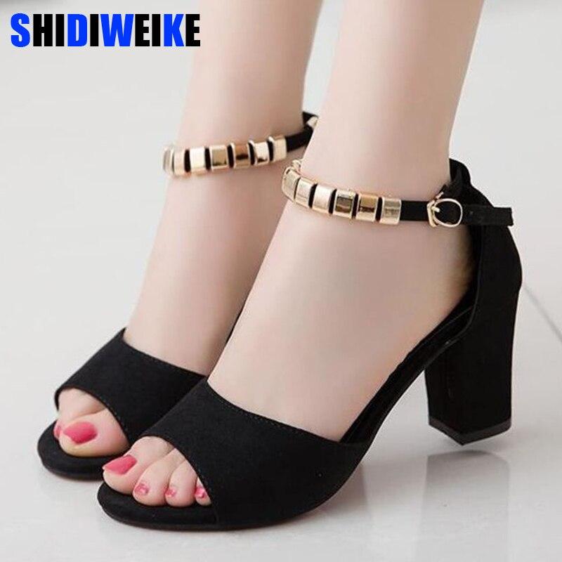afaadb35af Ladies Ankle Wrap Shoes 2019 Summer Gladiator Sandals Women Square ...