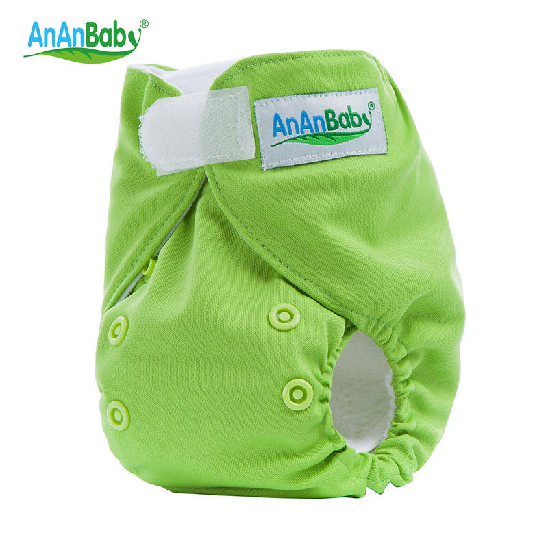 Ananbaby Newborn 0-3M Cloth Diaper Reusable Baby Nappies Waterproof Cover Pocket Diapers Washable Hook And Loop Fastener HA035K