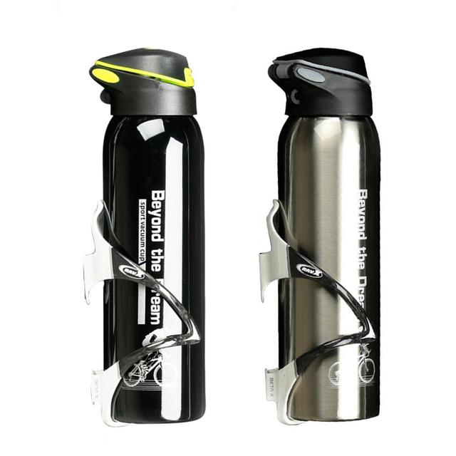 500ml Mountain Bike Riding Bicycle Water Bottles Double Stainless Steel Thermos Cup Warm-keeping Water Cup Jug Sports Kettle