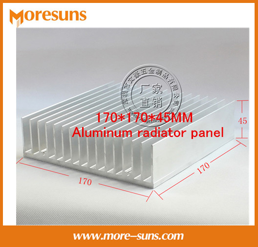 Fast Free Ship Super Cooling Pure aluminum heat sink High power radiator 170*170*45MM Aluminum radiator panel