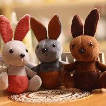 Korean Version Of The Large Ear Rabbit Key Ring Pendant Plush Toy Mobile Phone bag Children Doll Gift