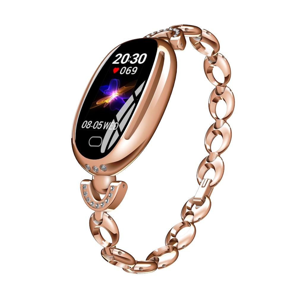 Moda relógio inteligente mulher rastreador de fitness monitor de freqüência cardíaca à prova dwaterproof água pedômetro esportes relógio para xiaomi telefone 2019