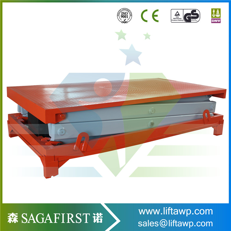 Aerial Platform With Yellow Color For Warehouse
