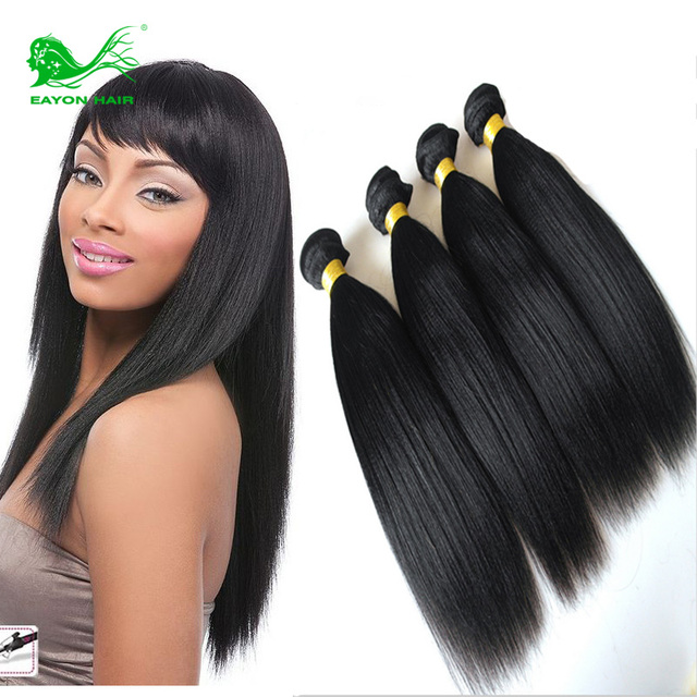Malaysian Virgin Hair Italian Yaki Straight Unprocessed Human Hair