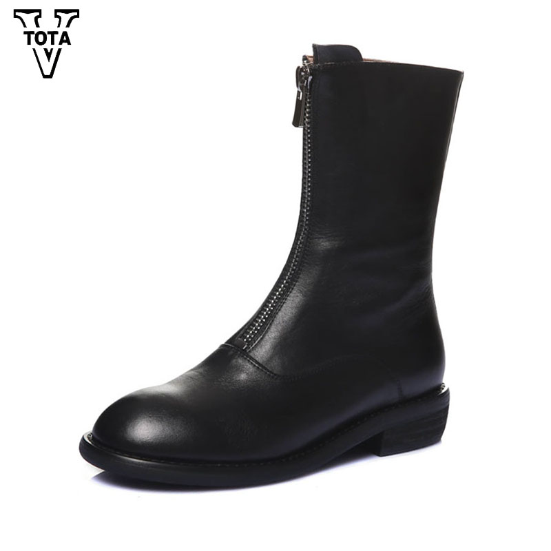 VTOTA Autumn Spring Female Ankle Boots Platform Shoes Woman Waterproof Rubber Botas Wedges Women Shoes Zip Zapatos Mujer E29 e toy word fashion ankle boots women spring autumn shoes women lace up solid boots female height increasing platform botas mujer