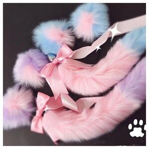 Image 2 - שועל זנב קשת מתכת התחת אנאלי תקע חמוד רך חתול ארוטי קוספליי אביזרי למבוגרים אבזרי מין לזוגות