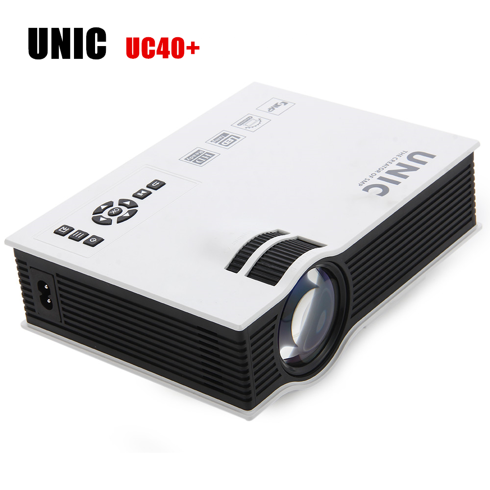 UNIC UC40+ Mini LCD Projector 800 x 480 Pixels 800 lumens Pico Home Cinema Theater Projectors with HDMI AV SD USB VGA Input excelvan uc30 projector portable mini led lcd home entertainment theater projector 480 320 with usb sd vga hdmi av micro