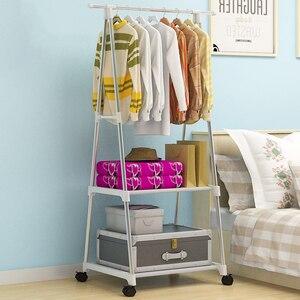 Image 4 - União mágica criativo multi funcional rack de roupas simples cabide cabide móvel casa quarto piso em pé roupas cabide