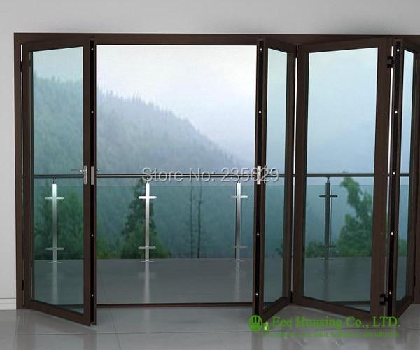 Online Shop Aluminium Bi Folding Exterior Doors Aluminum Folding
