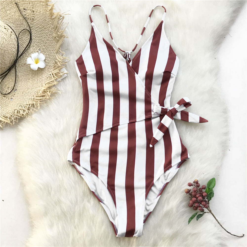 Young Stripe One-piece Swimsuit 17