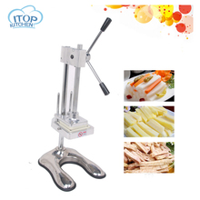 Manual Cut French Fries Machine Potato Cutter Chips +3 Blades Fruit and Vegetable Making Machine цена