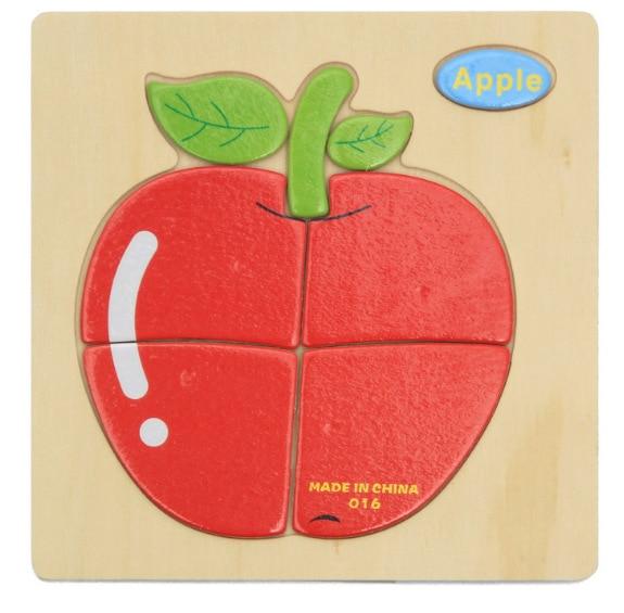 3D деревянные головоломки, игрушки для детей, Деревянные 3d Мультяшные головоломки с животными, интеллектуальные детские развивающие игрушки для детей - Цвет: Золотой