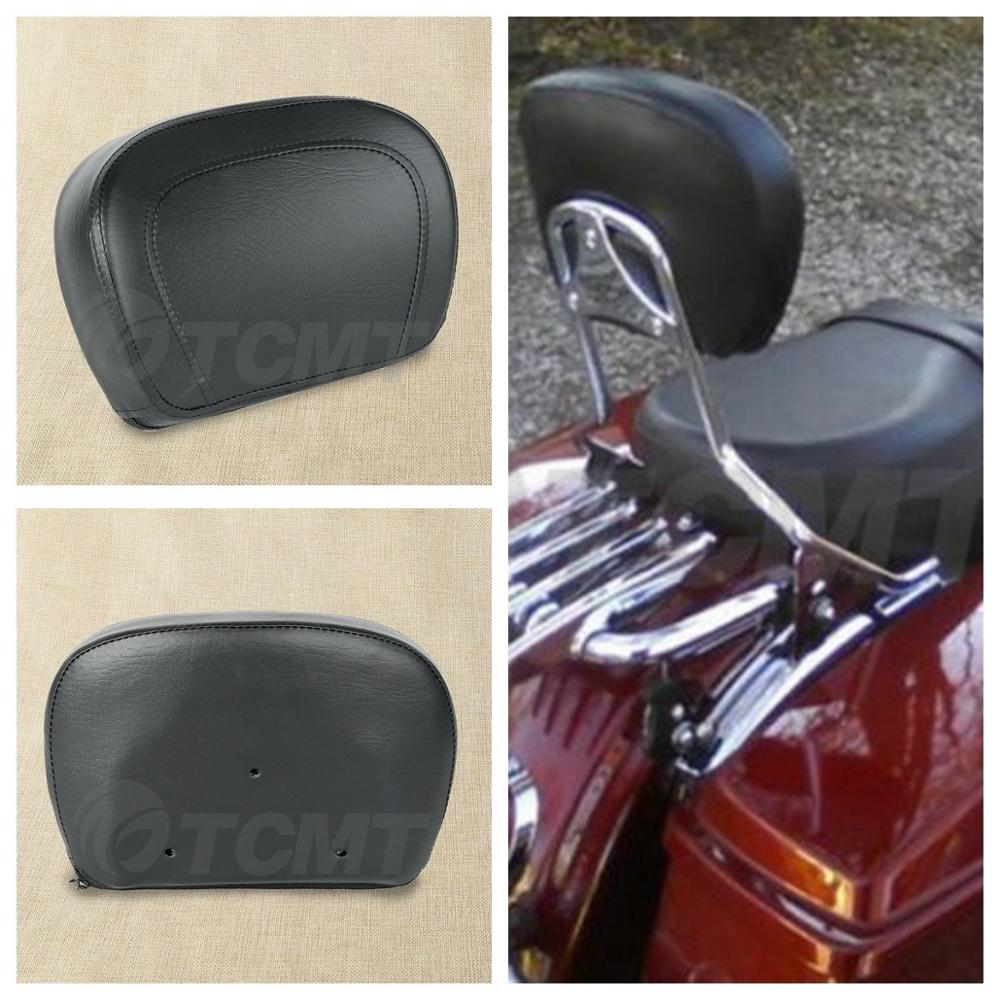 Motorcycle PU Leather Sissy Bar Backrest Pad For Harley Touring Road King Street Electra Glide FL FLHT FLHX FLHR 1997-2018
