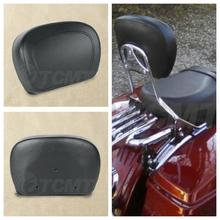 Motorcycle PU Leather Sissy Bar Backrest Pad For Harley Touring Road King Street Electra Glide FL FLHT FLHX FLHR 1997-2018 цена