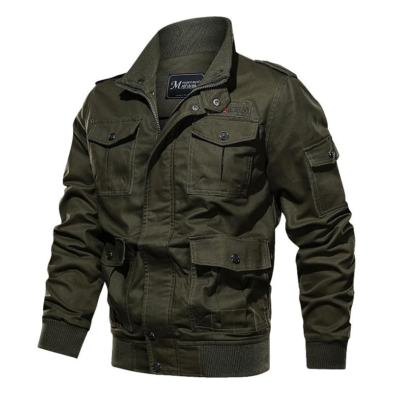HTB1tFQBXrH1gK0jSZFwq6A7aXXaq Cotton Military Jacket Men 2019 MA-1 Style Army Jackets Male Brand Multi Pocket Men's Bomber Jackets Plus Size M-6XL Thick Warm