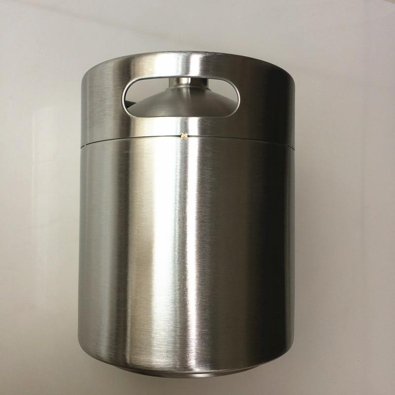 5 Liter Stainless Beer Kegs Portable Stainless Volume 176Oz Mini Keg Beer Growler Home Brew Draft