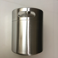 5 Liter Stainless Beer Kegs Portable Stainless Volume 176Oz Mini Keg Beer Growler Home Brew Draft Beer Pail Bar Accessories