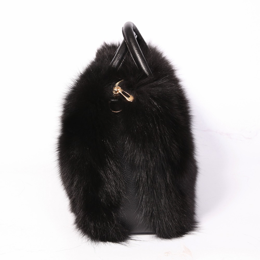 URSFUR Multicolor Real Fox Fur Bag Women with Single Strap Messenger Tote Handbag  Ladies Fur Shoulder Bags Gift Crossbody Clutch-in Crossbody Bags from ... bd348840c5981