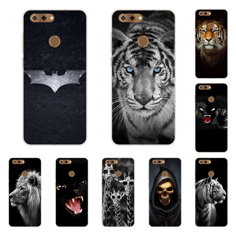 zte blade V9 Case,Silicon Fierce animals Painting Soft TPU Back Cover for zte blade V9 protect Phone bags