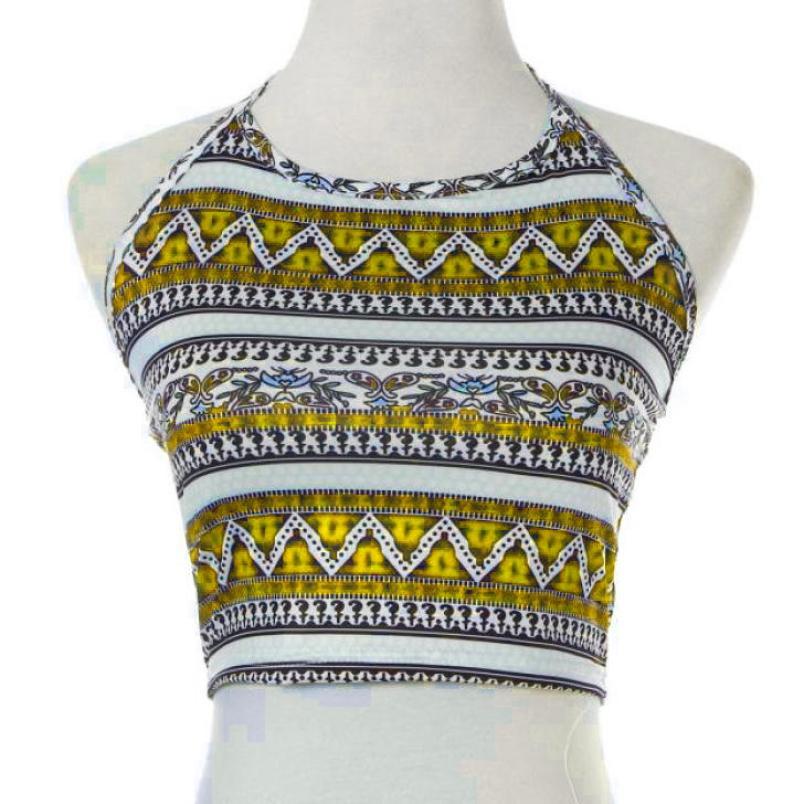 fashion  Women Halter Sheer Lace Triangle Bralette Bra Crop Top Lingerie  Item specifics Crop Top  print Geometric Tank Tops