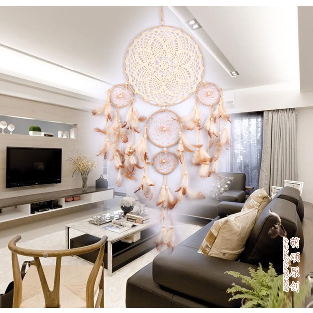big dream catcher decor for home-nordic decoration home-kids room decoration-wind chimes-dream catchers hanging dreamcatcher new (36)