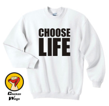 Choose Life Printed Shirt Mens Womens Trainspotting 90S Wham 80S Retro Top Crewneck Sweatshirt Unisex More Colors XS - 2XL