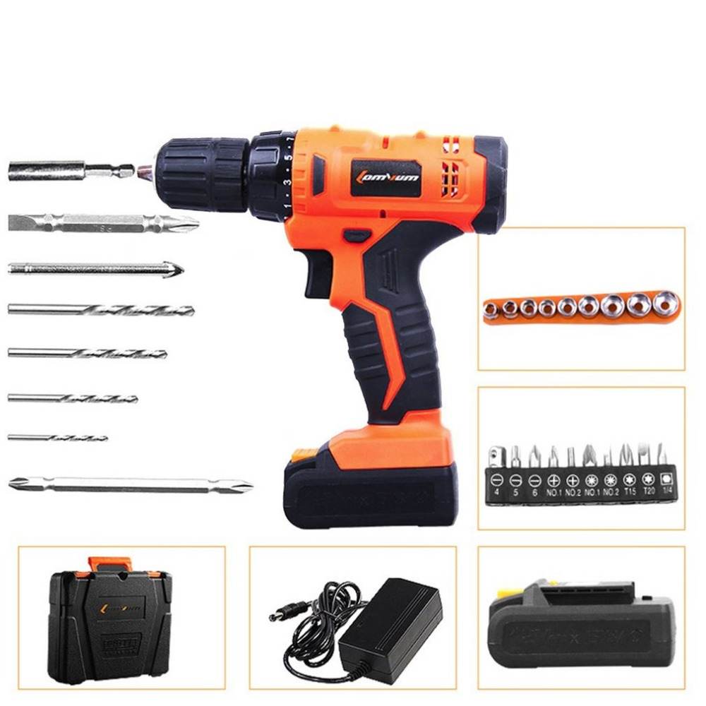 12V Professional Cordless Electric Drills Rechargeable Lithium Battery Electric Screwdriver Mini Drill Kit With Accessories 45pcs drills 4 8v cordless rechargeable reversible electric screwdriver tool set electric screwdriver with plastic case