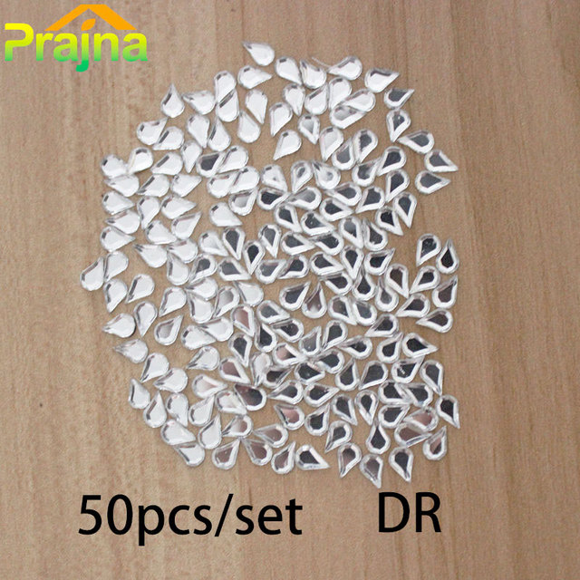 50pcs 5x8mm DR Rhinestone Applique Sticker DIY Hot Fix Rhinestone Beads Decorations  Wedding Shoes Dress Flat Back Crystal Trim 0d802bd52169