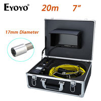 Eyoyo 20M 7 LCD 17mm Pipe Pipeline Drain Inspection Sewer Video Camera CCTV Cam CMOS 1000TVL