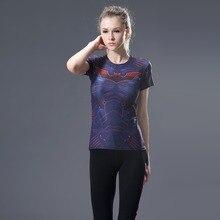 2017Devin Du Heroes T Shirt Women T-shirt Fashion Caption America 3D Print Avenger Compression Shirts Tops Superman Shirt Tights