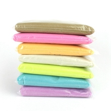 Retail 1kg bag DIY Safe And Nontoxic Malleable Fimo Polymer Clay Playdough Soft Power Play Dough