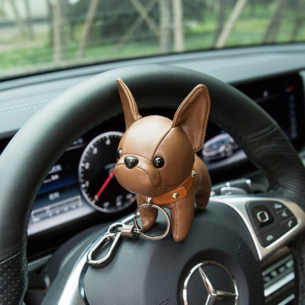 Keychain Law Small Decoration French-Bulldog-Doll Terrier-Hanging Fight Puppy-Bull Dog-Pendant