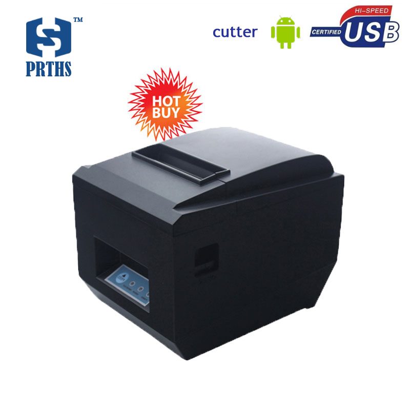 80mm pos thermal printer bluetooth bill receipt printer for Android with SDK no need ribbon widely used in hotel mall 825UAC 80mm pos receipt printer with bluetooth wifi