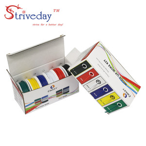 Image 1 - UL 1007 24AWG 60m/box Electrical Wire Cable Line 6 colors Mix Kit Airline Copper PCB Wire DIY