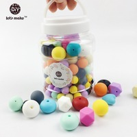 Let S Make Colorful Silicone Diy Nursing Eco Friendly Baby Teething Beads DIY Chew Beads Jewelry