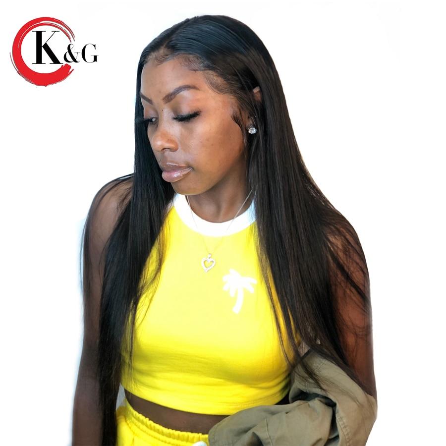 Kun Gang Deep Part 13 6 Straight Lace Front Human Hair Wigs Bleached Knots Brazilian Remy