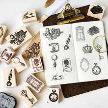 Vintage tool series wood stamp DIY craft wooden rubber stamps for scrapbooking stationery scrapbooking standard stamp lychee vintage wood box rubber stamps wooden scrapbooking standard stamp diy craft stamps decoration for handmade gift