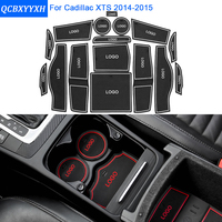 16Pcs/Set For Cadillac XTS 2014-2015 Car Styling Slot Pad Interior Door Groove Mat Latex Anti-Slip Cushion Internal Dedicated
