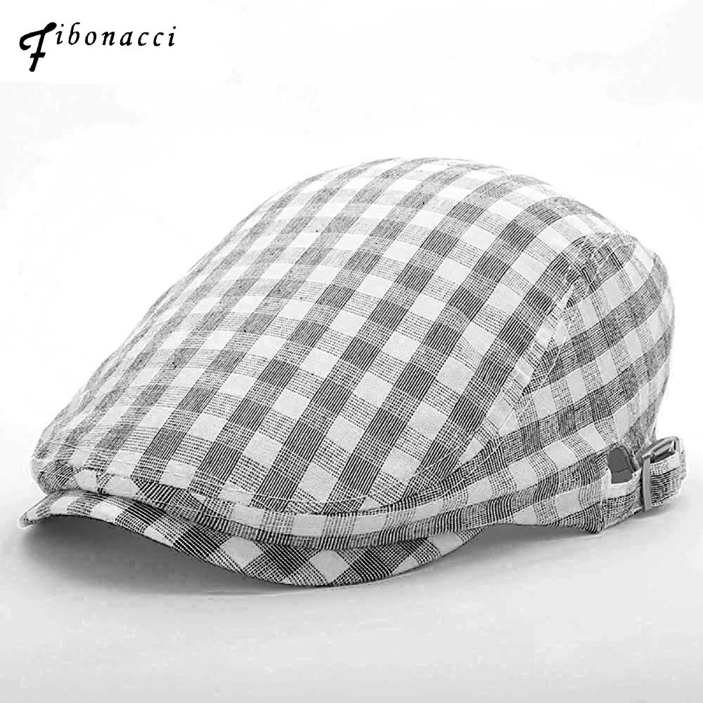 Apparel Accessories Punctual Fibonacci 2019 New Summer Newsboy Cap For Men Women Plaid Cotton Linen Beret Hat British French Vintage Caps Men's Hats