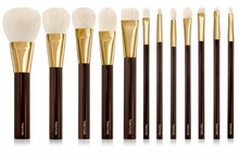 NEW ARRIVAL TF 12 PCS GOLDEN LUXURY MAKEUP BRUSHES