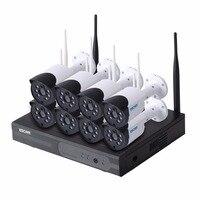 Escam wnk804 8ch 720 P Беспроводной NVR комплект Открытый ИК Ночное видение ip Камера Wi Fi Камера комплект домашней безопасности Системы наблюдения