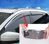 4pc for VOLVO xc60 xc90 s60l s60 (pls check car year) Windows visor rain guard Stainless steel bright bar|windows visor|bar bar|bar car -