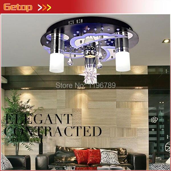 Modern Minimalist LED Ceiling Lamps Bedroom Restaurant Light Crystal Lamp Romantic Atmosphere Living Room Lights Free Shipping