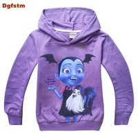 Vampirina Games Kids Clothes Spring Full Sleeves Baby Girls Clothing Hooded Kids Tops Girls Long Sleeve
