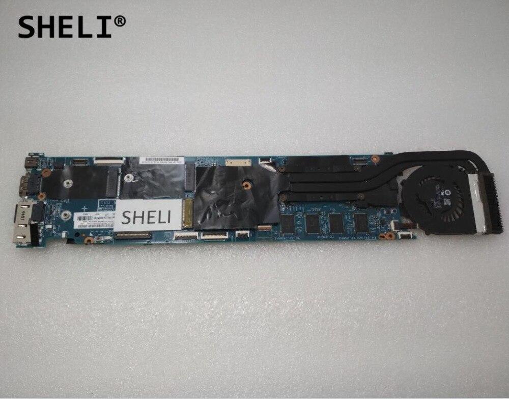 SHELI pour Lenovo Think-pad X1 carte mère avec i5-4200U cpu 4 GB Fru: 00HN761 (dissipateur de chaleur inclus)