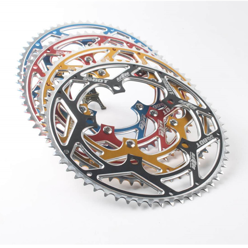 HIMALO 60T tek hızlı 130BCD katlanır bisiklet aynakol BMX aynakol alaşım AL7075 zincir tekerlek aynakol