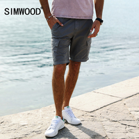SIMWOOD 2017 New Summer Shorts Men Casual Cotton Pocket Cargo Slim Fit Brand Clothing KD5050