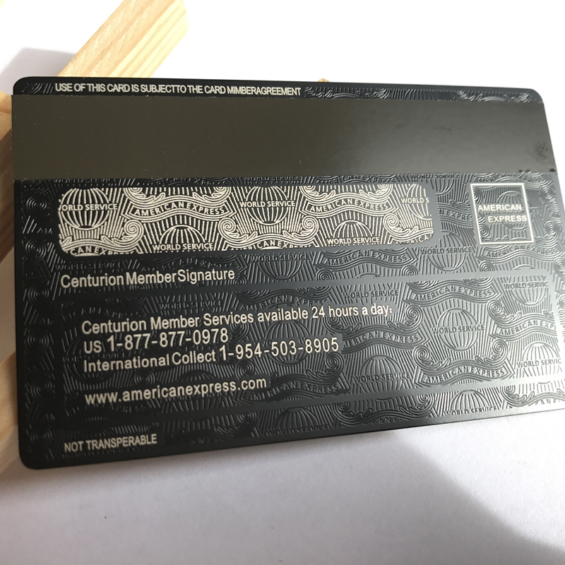 American Express noir Centurion carte bancaire personnaliser vous-même grand cadeau livraison gratuite - 3