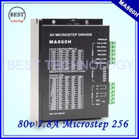 NEMA34 Stepper Motor Driver MA860H 24 110vDC / 18 80vAC Microstep 256 , 2.0 7.8A stepping motor controller Strong cooling!!