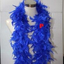 2 ярда Свадебная вечеринка праздничные украшения одежда платье аксессуары лента из перьев индейки пушистый синий DIY боа на день рождения